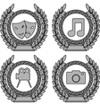 set of symbols of achievement third variant vector image vector image
