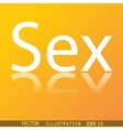 sex icon symbol Flat modern web design with vector image vector image