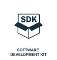software development kit icon symbol vector image