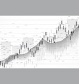 stock market or forex trading graph chart suitable vector image