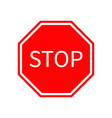 Stop traffic warning road sign Prohibition no vector image
