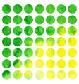 watercolor set of circles vector image