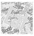 When to Eat when you have Diabetes Word Cloud vector image vector image