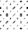 write icons pattern seamless white background vector image vector image