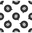 hashtag in circle icon seamless pattern vector image