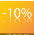 10 percent discount icon symbol Flat modern web vector image vector image