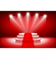 3d theatrical backgroundscene and red curtains red vector image vector image