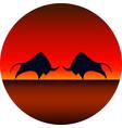 a bull design logo symbol animal vector image