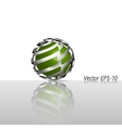 Abstract glass hi-tech sphere logo icon vector image