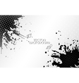 Abstract hand drawn spotted black background with vector image vector image