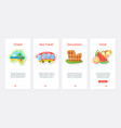 adventure travel cruise excursion and food ux ui vector image