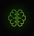 ai cyberbrain green icon - artificial vector image