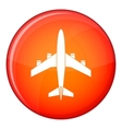Airplane icon flat style vector image vector image