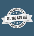 all you can eat ribbon all you can eat round vector image vector image