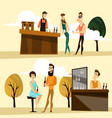 beer party people icon set vector image