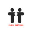 black simple family care logo vector image vector image