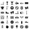 boxing man icons set simple style vector image vector image