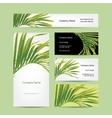 Business cards design tropical leaf vector image vector image