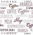 coffee seamless pattern coffee shop backdrop with vector image vector image