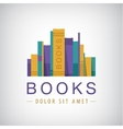 colorful books icon vector image