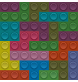 Colorful Lego block vector image