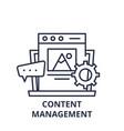 Content management line icon concept content