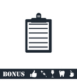 Contract icon flat vector image vector image