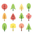 cute trees vector image
