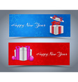 Design New Year banner vector image