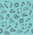 engineering flat concept icons pattern vector image vector image