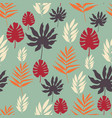 exotic tropical leaves seamless pattern on vector image vector image