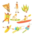 Extreme Sports Sticker Collection vector image vector image