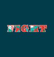 fight concept word art vector image vector image