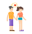 flat style of romantic young couple vector image vector image