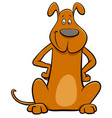 funny brown dog pet cartoon character vector image vector image