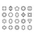 gem line geometric gems diamonds precious jewels vector image