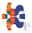 Gift on New Year Rooster box for tea bags or candy vector image vector image