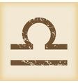 Grungy libra icon vector image vector image