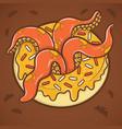 halloween donut with tentacles octopus vector image vector image