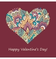 Happy Valentines Day congratulations card vector image vector image