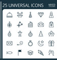 holiday icons set collection of flag point vector image vector image