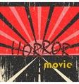 Horror movie vintage poster vector image vector image