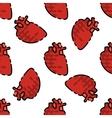 Human organs flat pattern vector image vector image