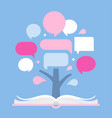 infographic tree and open book presentation vector image vector image