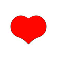 isolated image of a red heart vector image vector image