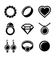 Jewelry Icons set vector image