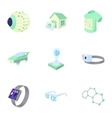 Latest electronic devices icons set cartoon style vector image vector image