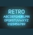 Light neon font letter set bar sign type
