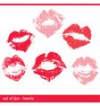 lips hearts 380 vector image vector image