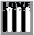 love-soccer vector image vector image